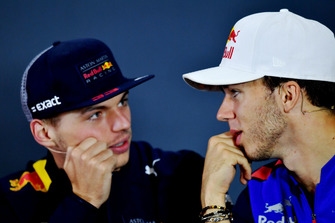 Max Verstappen, Red Bull Racing and Pierre Gasly, Scuderia Toro Rosso in Press Conference