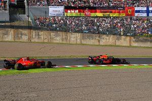 Kimi Räikkönen, Ferrari SF71H oraz Max Verstappen, Red Bull Racing RB14