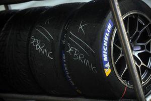 Des pneus préparés pour la course suivante à Sebring