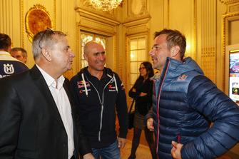 Etienne Lavigne avec Stéphane Peterhansel and Sébastien Loeb