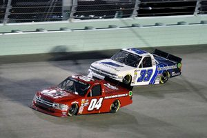 Cory Roper, Roper Racing, Ford F-150 Preferred Industrial Contractors Inc. and Robby Lyons, Reaume Brothers Racing, Chevrolet Silverado B&W Structural