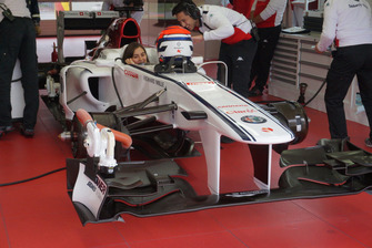 Colombian Racing Driver Tatiana Calderón at Formula 1 Sauber Testing