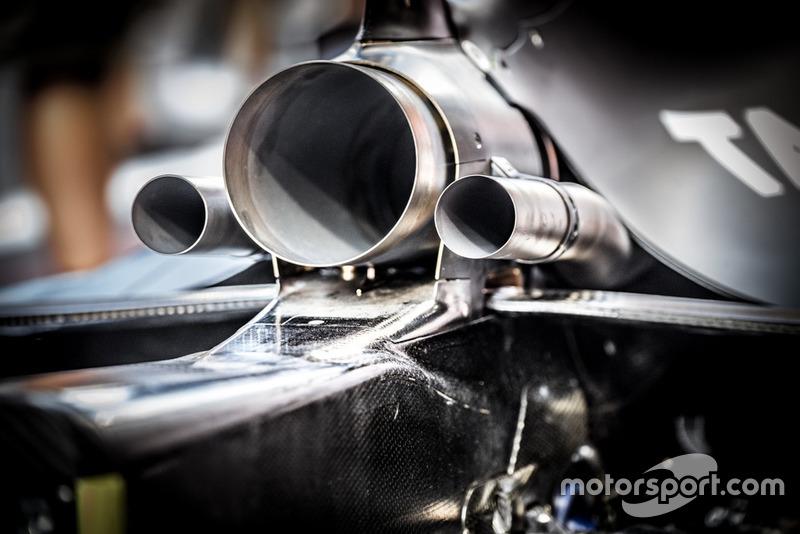Red Bull RB14, dettaglio dello scarico