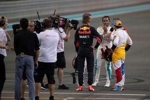 Lewis Hamilton, Mercedes-AMG F1 W09, Max Verstappen, Red Bull Racing, Sebastian Vettel, Ferrari and Fernando Alonso, McLaren in Parc Ferme