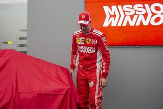 Sebastian Vettel, Ferrari at the new Ferrari livery unveil