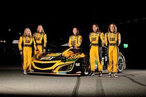 Jackie Heinricher, Katherine Legge, Ana Beatriz , Simona De Silvestro, Christina Nielsen, Meyer Shank Racing