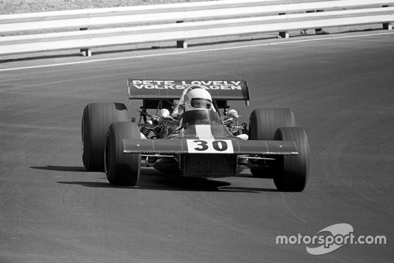 Pete Lovely, in his F2 based Lotus 69 with Cosworth DFV V8