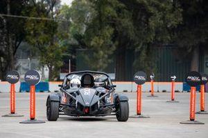 Sebastian Job drives in the eROC Skills Challenge