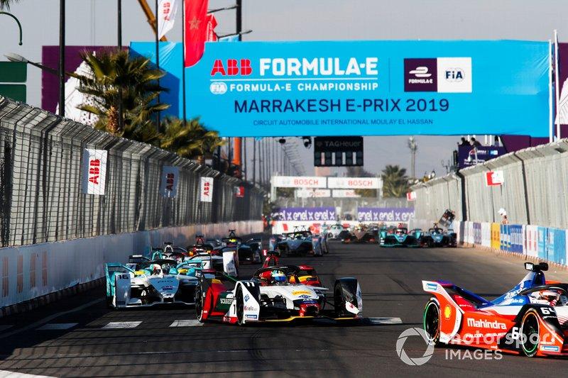 Jérôme d'Ambrosio, Mahindra Racing, M5 Electro, Lucas di Grassi, Audi Sport ABT Schaeffler, Audi e-tron FE05, Oliver Turvey, NIO Formula E Team, NIO Sport 004