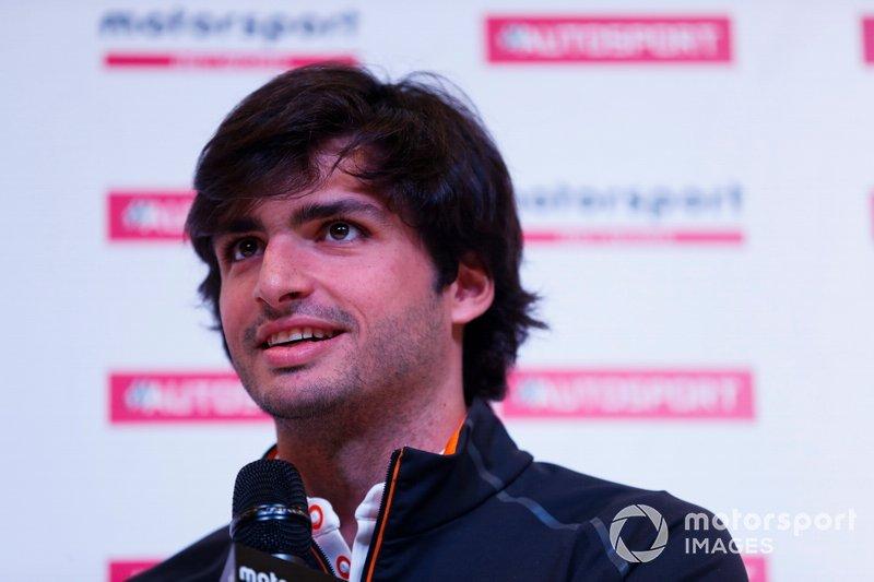 Carlos Sainz Jr talks to Alan Hyde on the Autosport Stage