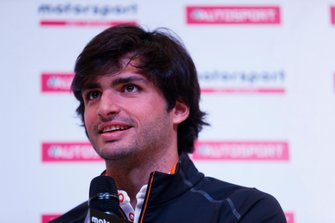 Carlos Sainz Jr talks to Alan Hyde on the Autosport Stage