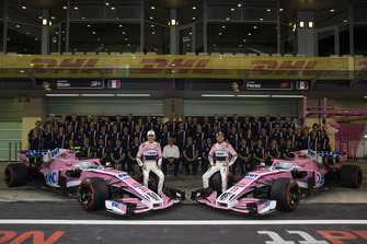 Esteban Ocon, Racing Point Force India and Sergio Perez, Racing Point Force India at the Racing Point Force India F1 Team Photo
