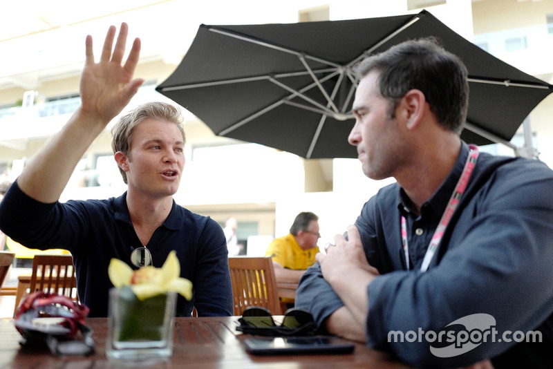Jimmie Johnson with Nico Rosberg