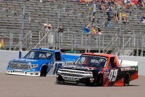 Austin Hill, Hattori Racing Enterprises, Toyota Tundra United Rentals and Roger Reuse, CMI Motorsports, Chevrolet Silverado CMI Motorsports