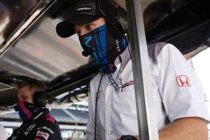 Jack Harvey, Meyer Shank Racing Honda engineersJosef Newgarden, Team Penske Chevrolet, podium