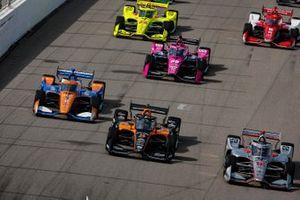 Will Power, Team Penske Chevrolet, Patricio O'Ward, Arrow McLaren SP Chevrolet, Scott Dixon, Chip Ganassi Racing Honda, Jack Harvey, Meyer Shank Racing Honda