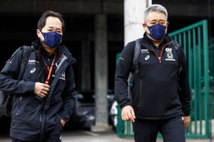 تويوهارو تانابي، المدير التقني لهوندا وماساشي ياماموتو، رئيس هوندا موتورسبورت