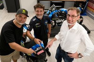 """Alessio """"Uccio"""" Salucci, Responsabile VR46 Academy, Pablo Nieto, Team Manager Sky Racing Team VR46, Giovanni Fassi"""