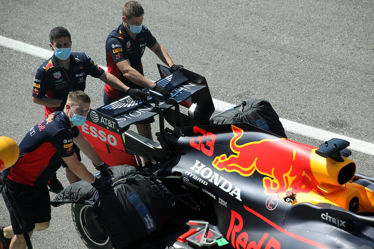 Parte trasera del Red Bull Racing RB16