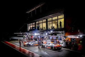 #32 Belgian Audi Club Team WRT Audi R8 LMS GT3: Charles Weerts, Frank Stippler, Edoardo Mortara, #33 Belgian Audi Club Team WRT Audi R8 LMS GT3: Rik Breukers, Stuart Hall, Benjamin Goethe