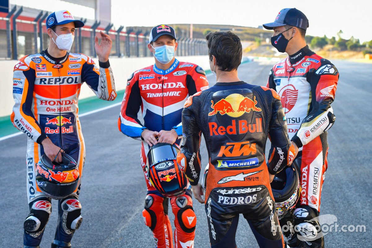Alex Márquez, Repsol Honda Team, Stefan Bradl, Repsol Honda Team, Takaaki Nakagami, Team LCR Honda, Dani Pedrosa, Red Bull KTM Factory Racing