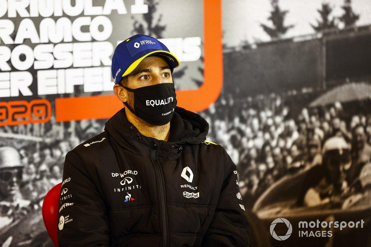 Daniel Ricciardo, Renault F1 in the press conference