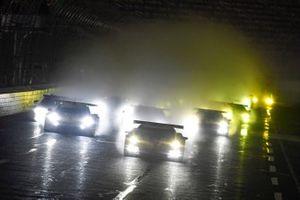 #3 Corvette Racing Corvette C8.R, GTLM: Antonio Garcia, Jordan Taylor leads field to green flag.