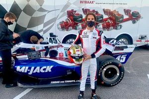 Antonio Felix da Costa, Rahal Letterman Lanigan Racing probando su Honda Indycar