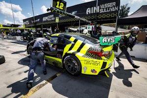 Arrêt au stand #12 AIM Vasser Sullivan Lexus RC-F GT3, GTD: Frankie Montecalvo, Townsend Bell, Aaron Telitz