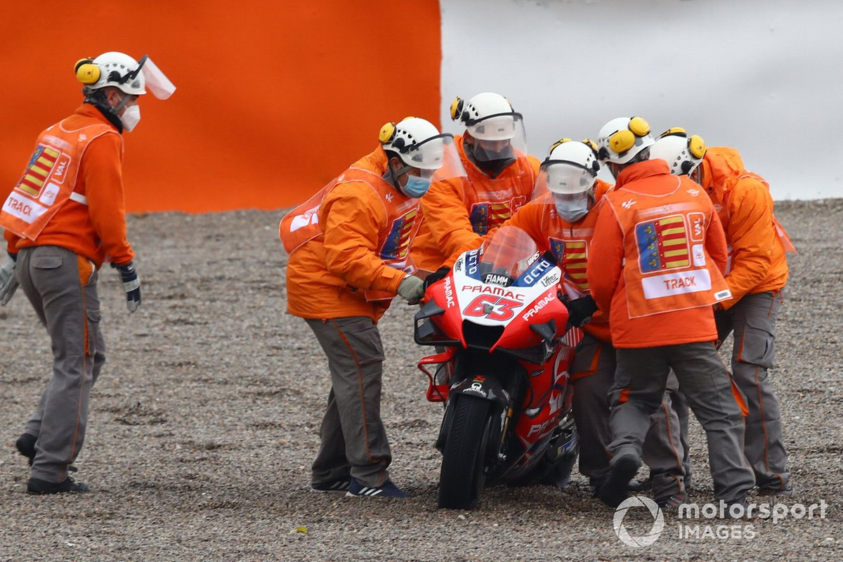Francesco Bagnaia, Pramac Racing after crash