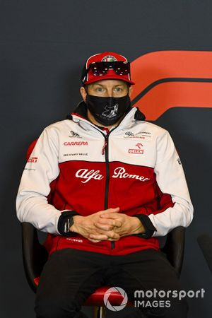 Kimi Raikkonen, Alfa Romeo, in a Press Conference