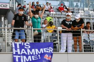 Fans of Lewis Hamilton, Mercedes-AMG F1, in a grandstand