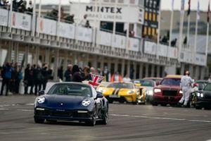 A Porsche 911 Turbo S in the Supercar Run