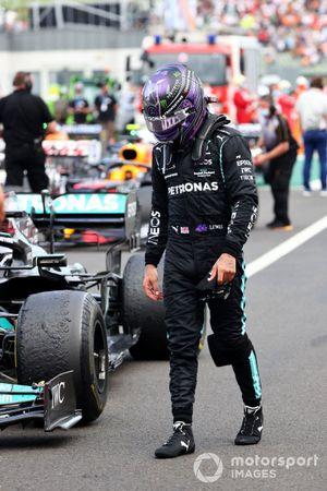 Lewis Hamilton, Mercedes, in Parc Ferme