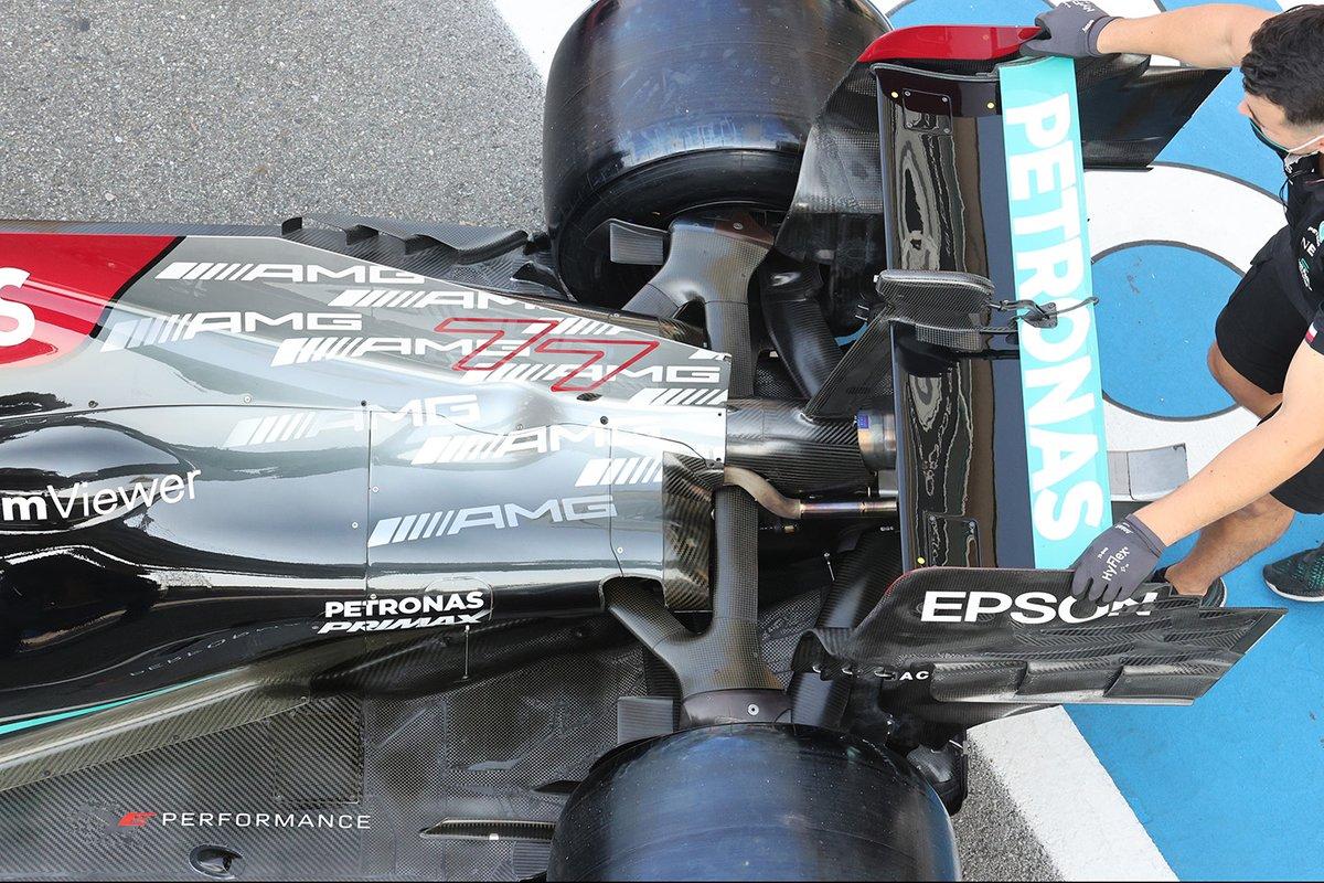 Mercedes W12 rear wing detail