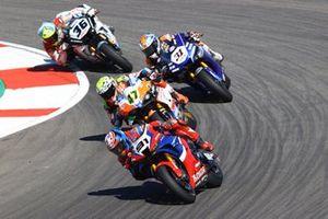 Leon Haslam, Team HRC, Axel Bassani, Motocorsa Racing, Garrett Gerloff, GRT Yamaha WorldSBK Team, Leandro Mercado, MIE Racing Honda Team