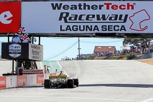Colton Herta, Andretti Autosport w/ Curb-Agajanian Honda takes the checker flag