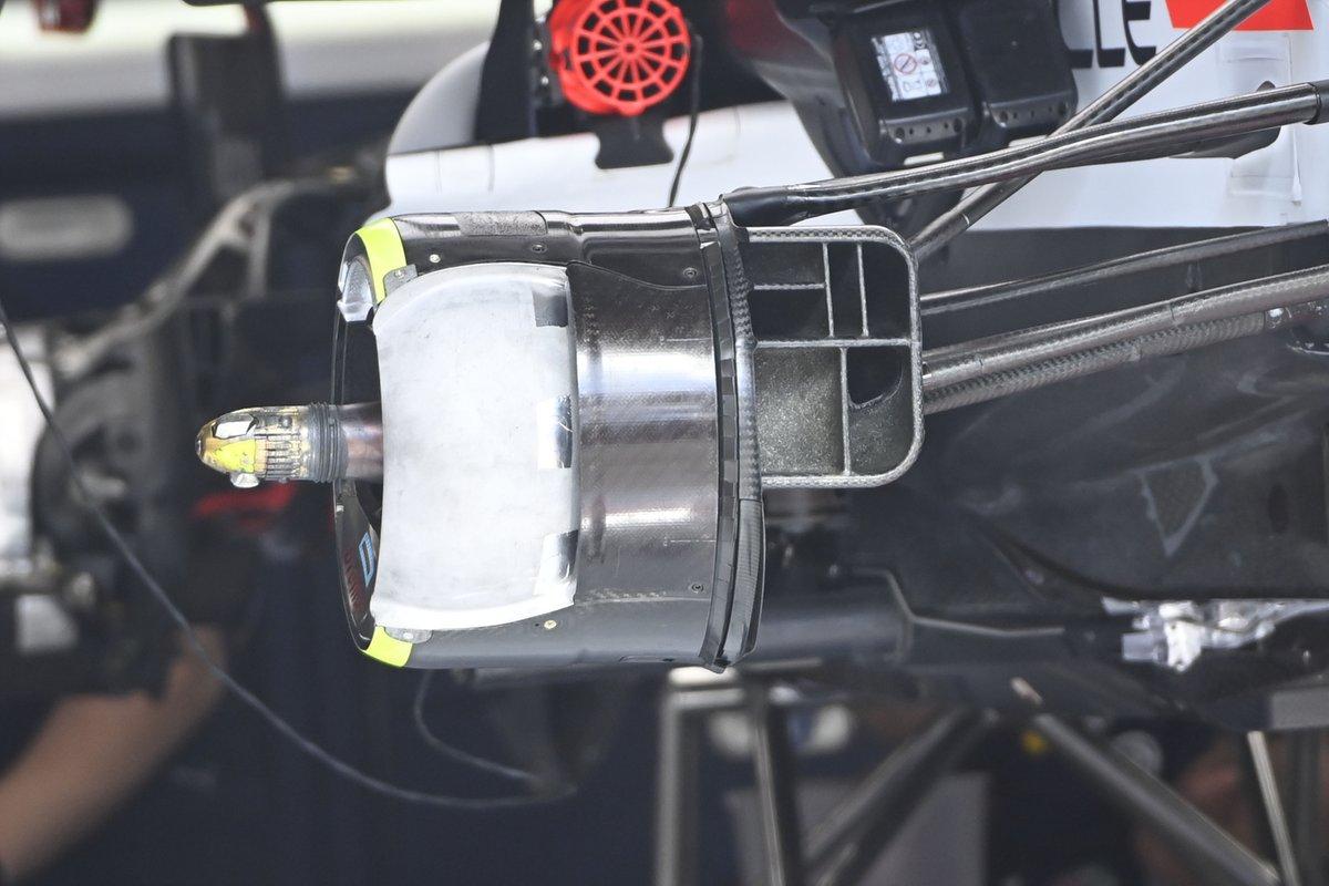 Red Bull Racing RB16B brake drum detail