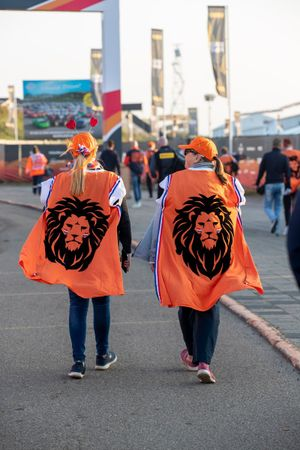 Fans in orange