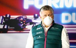 Otmar Szafnauer, Team Principal e CEO, Aston Martin F1, nella conferenza stampa dei team principal