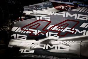 Numero di gara sulla macchina di Lewis Hamilton, Mercedes W12