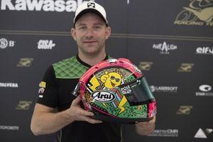 Lucas Mahias, Kawasaki Puccetti Racing charity helmet