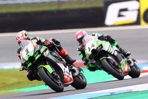 Jonathan Rea, Kawasaki Racing Team WorldSBK, Lucas Mahias, Kawasaki Puccetti Racing