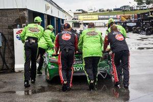 Kyle Busch, Joe Gibbs Racing, Toyota Camry after the wreck