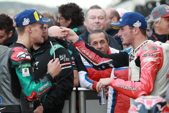 Second place Fabio Quartararo, Petronas Yamaha SRT, third place Jack Miller, Pramac Racing