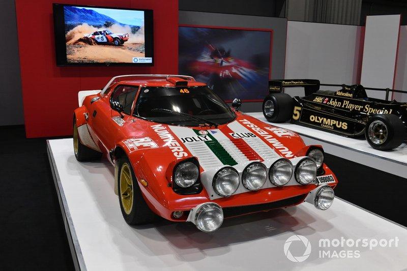 Lancia Stratos on the Autosport stand