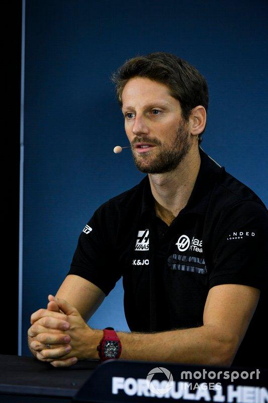 Romain Grosjean, Haas F1 In the Press Conference