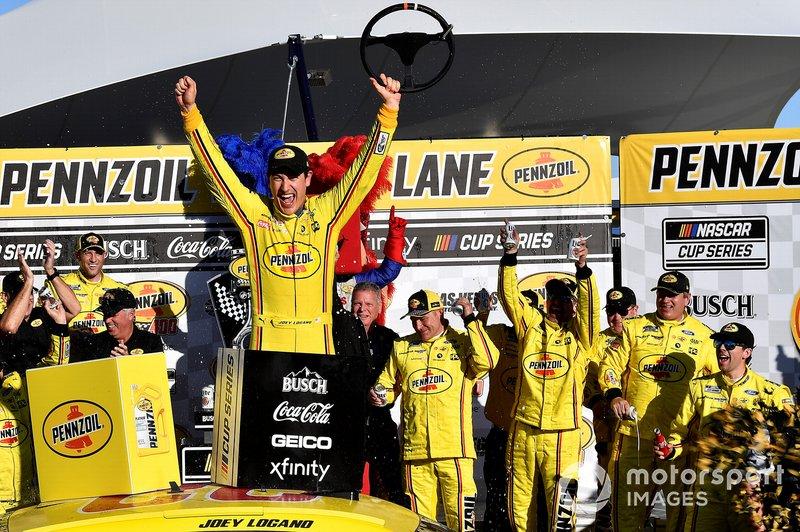 1. Joey Logano, Team Penske, Ford Mustang