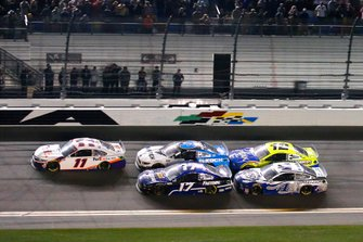 Denny Hamlin, Joe Gibbs Racing, Toyota Camry FedEx Express, Chris Buescher, Roush Fenway Racing, Ford Mustang Fastenal and Ryan Newman, Roush Fenway Racing, Ford Mustang Koch Industries