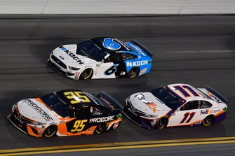Christopher Bell, Leavine Family Racing, Toyota Camry Procore, Ryan Newman, Roush Fenway Racing, Ford Mustang Koch Industries, Denny Hamlin, Joe Gibbs Racing, Toyota Camry FedEx Express